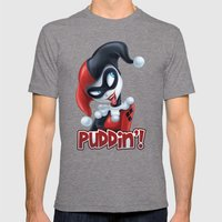 Puddin'! Mens Fitted Tee Tri-Grey SMALL