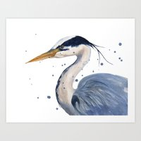 HERON Art Print, Heron P… Art Print