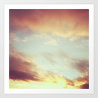 Fading Sunset Art Print