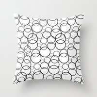 Black And White Bubbles Throw Pillow