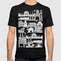 Los Angeles Blue Mens Fitted Tee Tri-Black SMALL