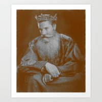 All Hail The King! Art Print