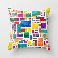 Polygonal Map Throw Pillow