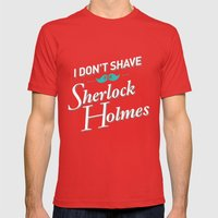 I Don't Shave For Sherlo… Mens Fitted Tee Red SMALL