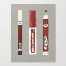 Markers: Pantone + Edding (1st edition) Canvas Print