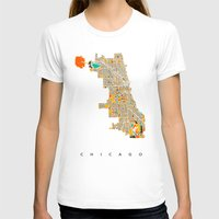 chicago T-shirts featuring Chicago by Nicksman