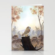 Owl Meeting Stationery Cards