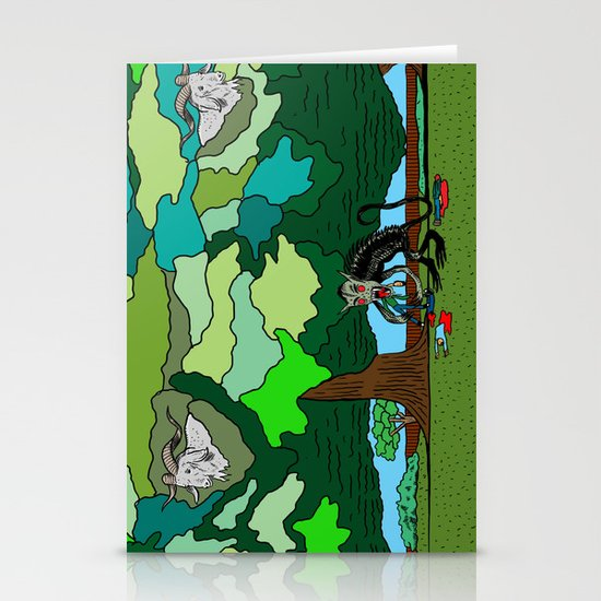 """""""Fade"""" by Steven Fiche Stationery Card"""