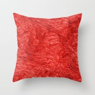 Throw Pillow featuring Very Thick Painted, Fire… by MehrFarbeimLeben