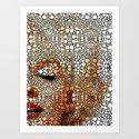 Marilyn Monroe - Stone Rock'd Art Painting Art Print