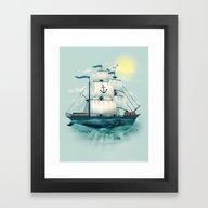 Framed Art Print featuring The Whaleship by Dan Elijah G. Fajard…