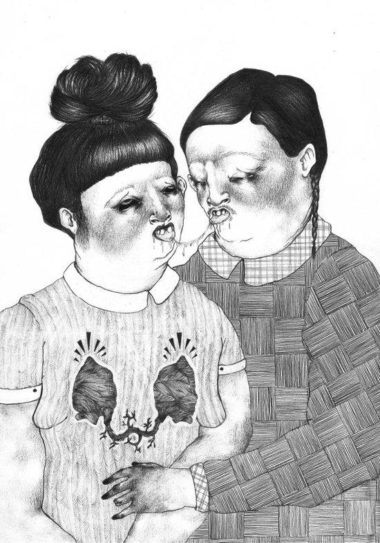 2 lovers Art Print