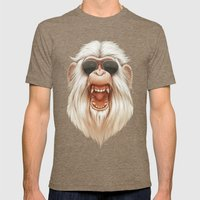 The Great White Angry Monkey Mens Fitted Tee Tri-Coffee SMALL