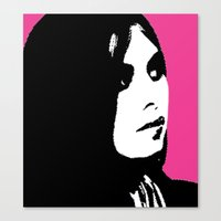 Jesi Meets Warhol Canvas Print