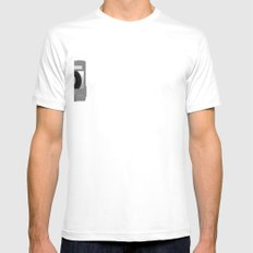 The Moon Mix Tape White Mens Fitted Tee SMALL