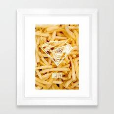 Diamonds & French Fries Framed Art Print