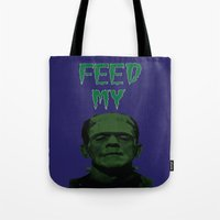 Feed My Frankenstein Tote Bag