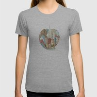 The Big Apple and I Womens Fitted Tee Athletic Grey SMALL