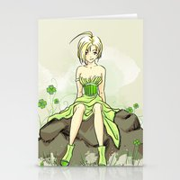 Pinup verte Stationery Cards