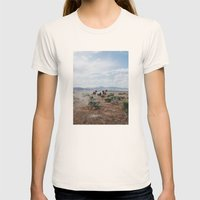 Running Horses Womens Fitted Tee Natural SMALL