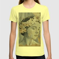 Portrait Womens Fitted Tee Lemon SMALL