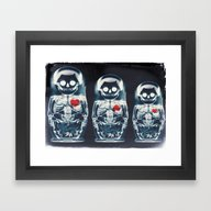 Framed Art Print featuring Nesting Doll X-Ray by Ali GULEC