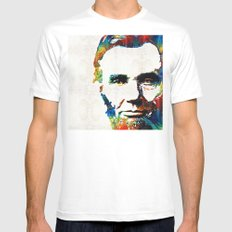 Abraham Lincoln Art - Co… Mens Fitted Tee White SMALL