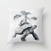 Tortoise Tree - Growth Throw Pillow