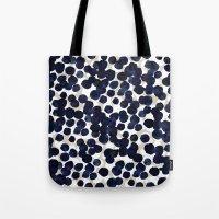 Indigo Velvet Drops Tote Bag