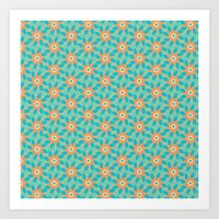 Tropical Florals Art Print