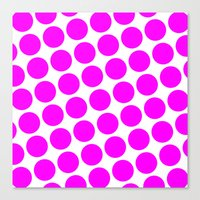 Canvas Print featuring BIG PINK DOT by Mr.DOT