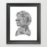 Sherlock BBC Benedict Cu… Framed Art Print