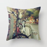 The street is quiet Throw Pillow