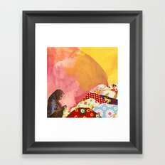 mending Framed Art Print