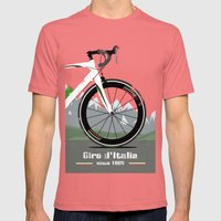 Giro D'Italia Bike Mens Fitted Tee Pomegranate SMALL