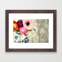 Colors Of Happiness Framed Art Print