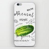Watercolor cucumber iPhone & iPod Skin
