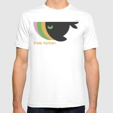 freie farben Mens Fitted Tee White SMALL