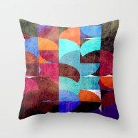 Retro Colorful Throw Pillow