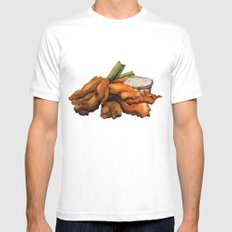 Buffalo Chicken SMALL Mens Fitted Tee White
