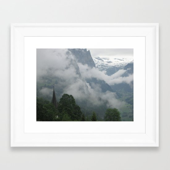 Falling Clouds 1 Framed Art Print