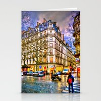 Rainy Evening In Paris, … Stationery Cards