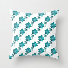 Anemone Watercolor Throw Pillow