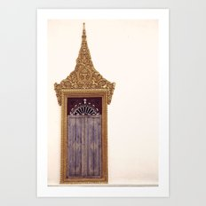 WINDOW SERIES - LAOS Art Print
