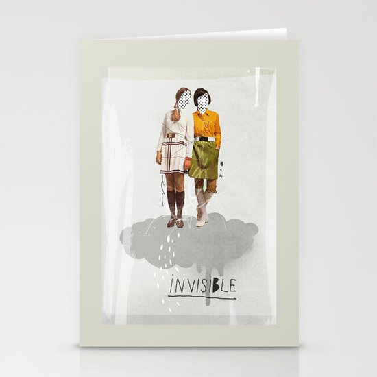 Invisible   Collage Stationery Card