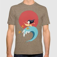 The Wave Mens Fitted Tee Tri-Coffee SMALL