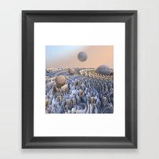 fractal landscape -2- Framed Art Print