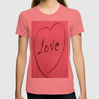 LOVE Womens Fitted Tee Pomegranate SMALL