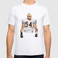 Geometric Urlacher Mens Fitted Tee Ash Grey SMALL