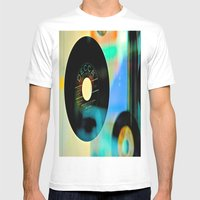 Nothing Sounds Like Vinyl Mens Fitted Tee White SMALL